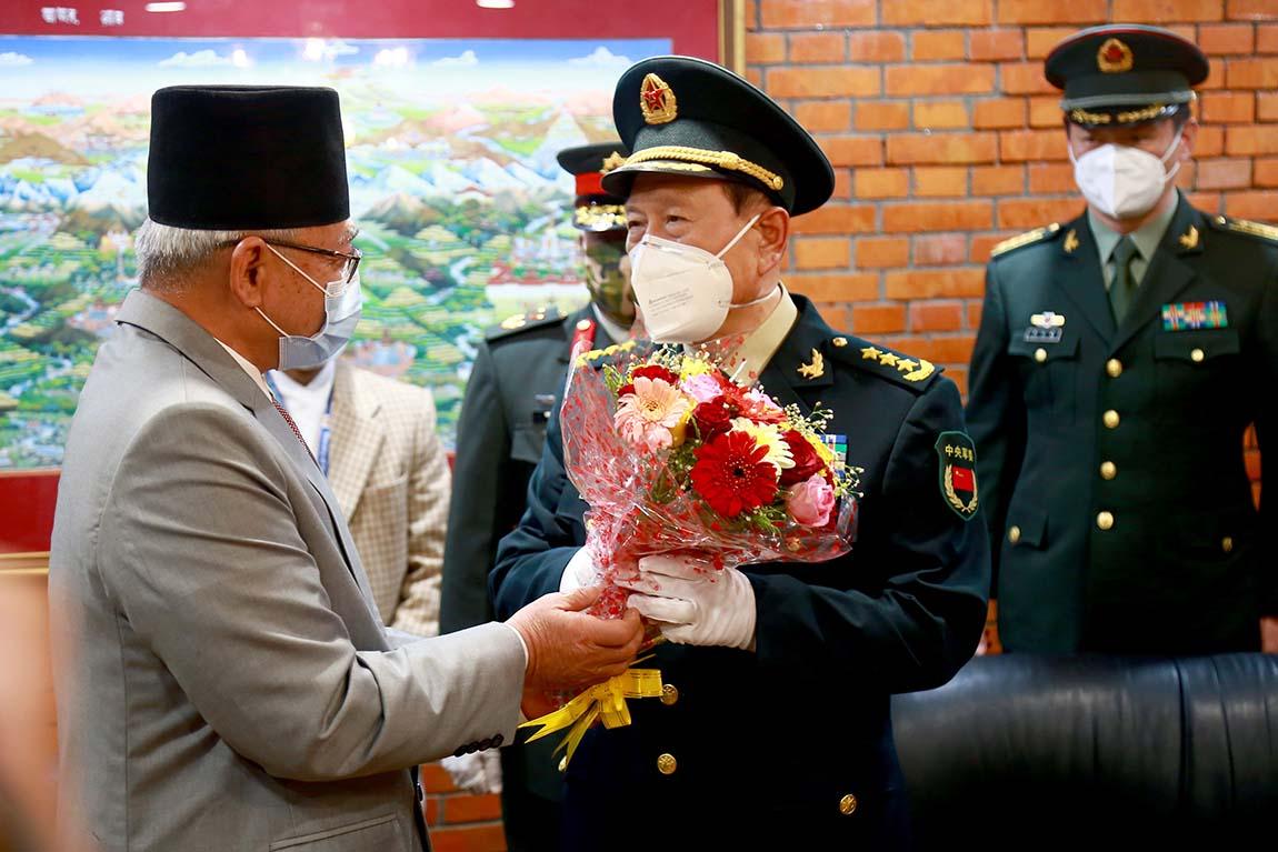 चीनको राज्यपरिषद् सदस्य तथा रक्षामन्त्री वेइ फेङ्हे नेपालमा