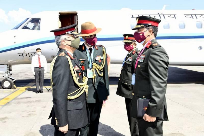 भारतीय स्थल सेनाध्यक्ष नरवणे काठमाडौं आइपुगे