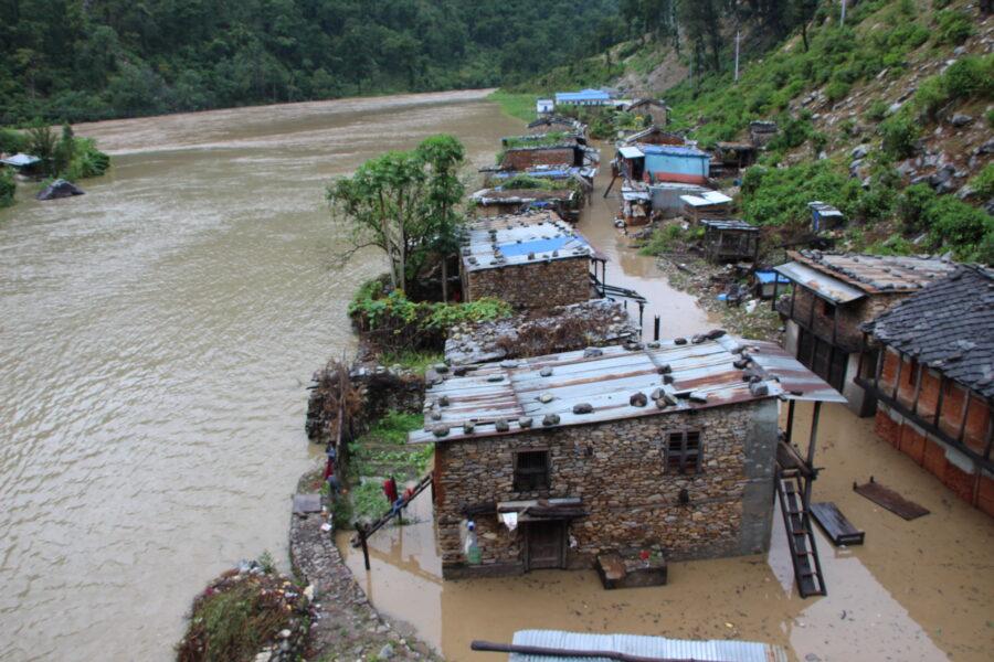 रामाघाटको बस्ती डुवानमा